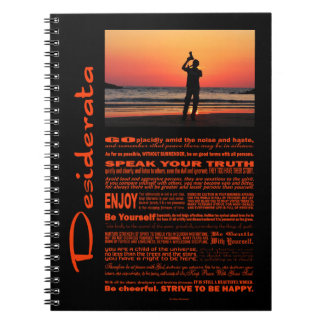Poema de los desiderátums que fotografía el mundo spiral notebook