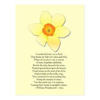 Poema de Wordsworth del ~ del narciso Tarjetas Postales
