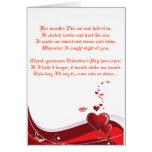 Poema del amor de las tarjetas del día de San Vale