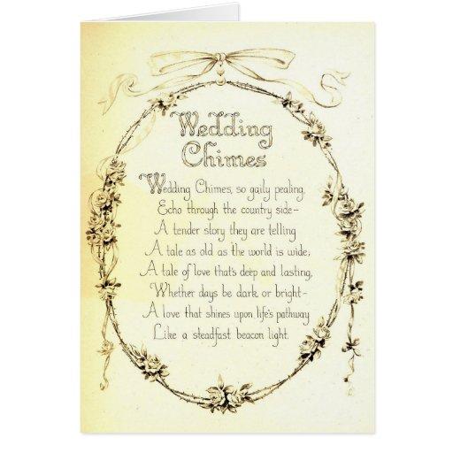 Poema del boda del vintage tarjetas