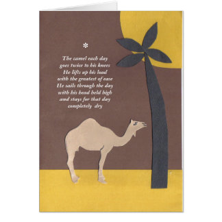 poema del camello tarjeta de felicitación