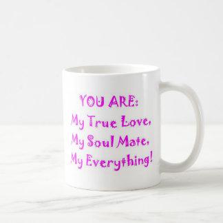 Poema del compañero del alma taza de café