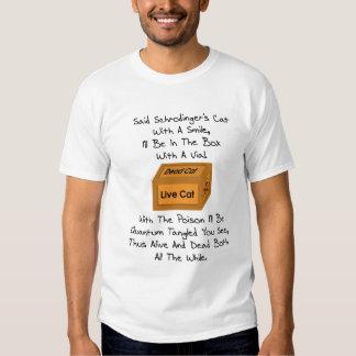 Poema del gato de Schrodinger Remeras