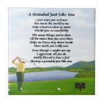Poema del Grandad - golf Azulejo Cuadrado Pequeño