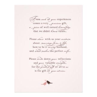 Poema del guestbook {TBA} Membrete A Diseño