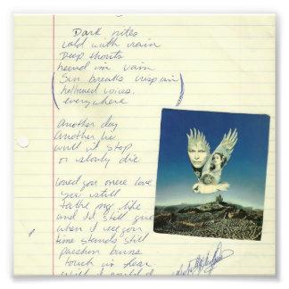 poema del mirlo del vintage fotografías