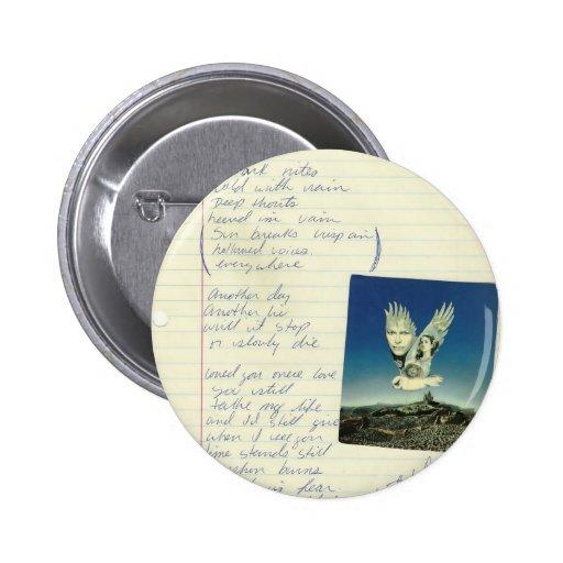 poema del mirlo del vintage pins