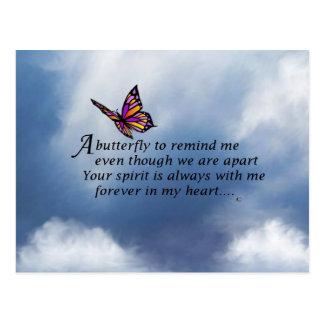 Poema del monumento de la mariposa tarjeta postal