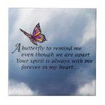 Poema del monumento de la mariposa teja cerámica
