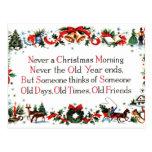 Poema del navidad del vintage tarjetas postales