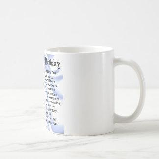 Poema del padre - 70.o cumpleaños taza de café