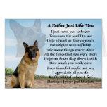 Poema del padre del perro de pastor alemán tarjeta