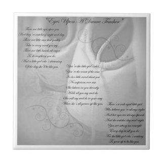 Poema del profesor de la danza azulejo cerámica