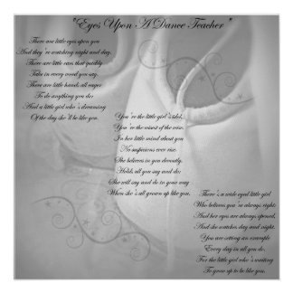 Poema del profesor de la danza póster