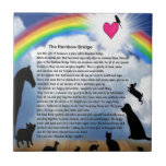 Poema del puente del arco iris azulejo ceramica