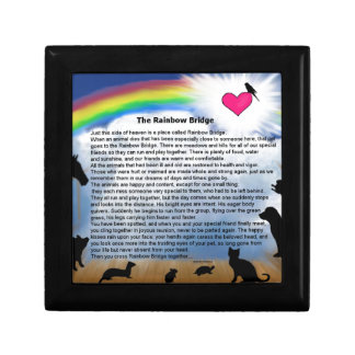 Poema del puente del arco iris cajas de regalo