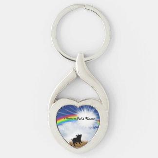 Poema del puente del arco iris para los cerdos llaveros