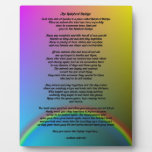 Poema del puente del arco iris placa para mostrar