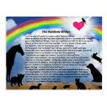 Poema del puente del arco iris tarjetas postales