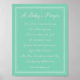 Poema del rezo de un bebé - colores del cuarto de póster
