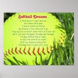 Poema del softball póster