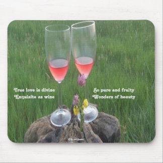 Poema del vino de Mousepad por el afloramiento de