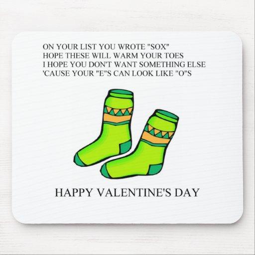 poema divertido del el día de San Valentín Mousepads