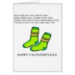 poema divertido del el día de San Valentín Tarjeton