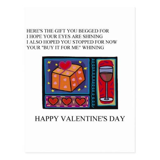 poema divertido del el día de San Valentín Postales
