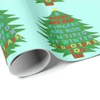 Poema divertido del navidad del embaucamiento de papel de regalo