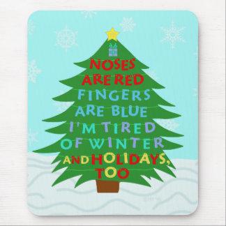 Poema divertido del navidad del embaucamiento de tapetes de raton
