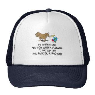 Poema divertido del perro gorras de camionero