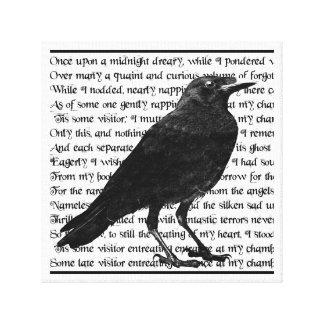 Poema Edgar Allan Poe del cuervo Impresión De Lienzo