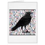 Poema Edgar Allan Poe del cuervo Tarjetas