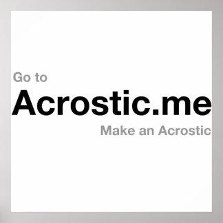 Poema el 50% del Acrostic donado a los cristianos  Posters