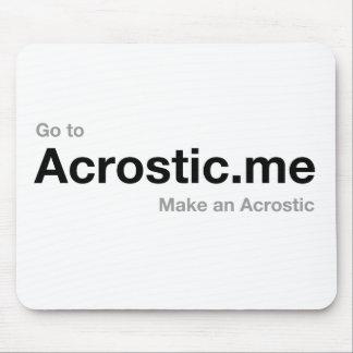 Poema el 50% del Acrostic donado a los cristianos  Mousepad