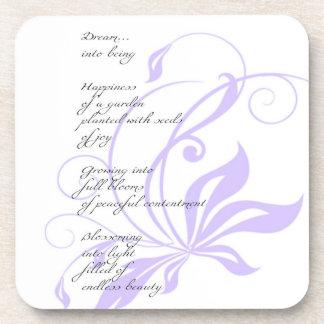 Poema elegante del sueño de la lila posavaso