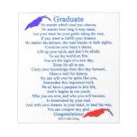 Poema graduado bloc de papel