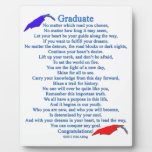 Poema graduado placa de plastico