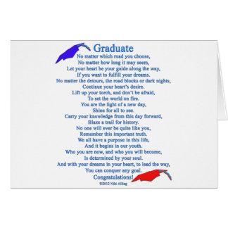 Poema graduado tarjeta de felicitación