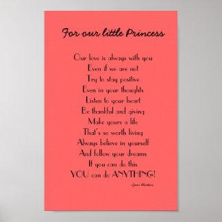 Poema inspirado de la hija de padres poster