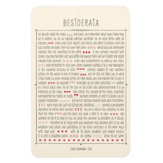 Poema inspirado de los desiderátums imanes flexibles
