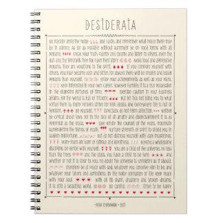 Poema inspirado de los desiderátums notebook