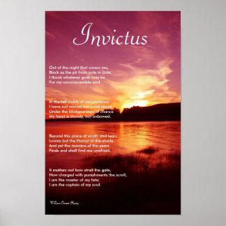 Poema inspirado del de Invictus Posters