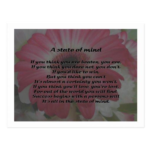 Poema inspirado postal