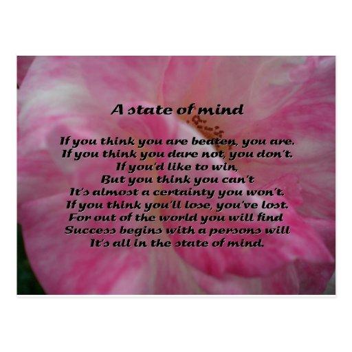 Poema inspirado postales