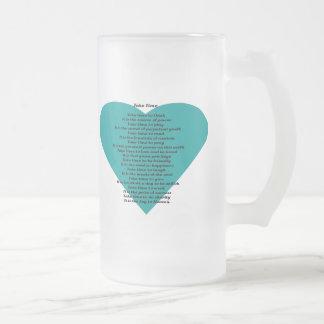 Poema inspirado taza de cristal
