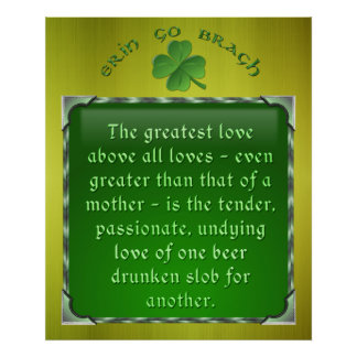 Poema irlandés - amor de un Slob borracho Póster