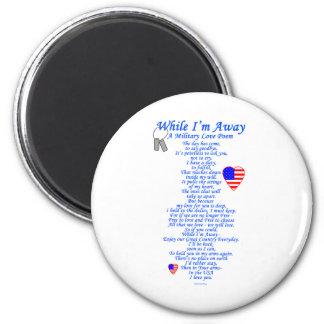 Poema militar del amor imán de frigorífico