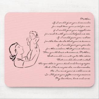 Poema Mousepad del esquema de la madre y del niño Alfombrillas De Ratón